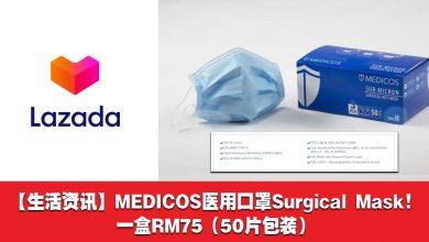 Photo of 【生活资讯】MEDICOS医用口罩Surgical Mask 一盒50片包装RM75!