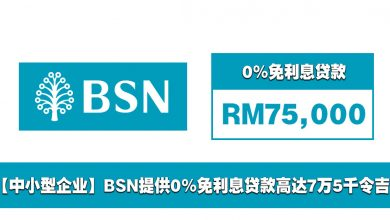 Photo of 【中小型企业】BSN提供0%免利息贷款高达7万5千令吉!5.5年内偿还!