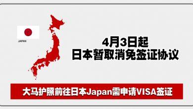 Photo of 【旅行资讯】日本Japan暂取消免签证协议!大马人前往需VISA签证!