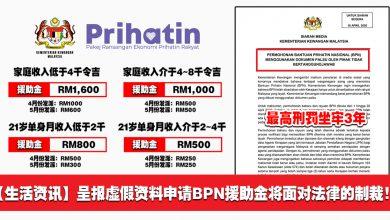 Photo of 【生活资讯】呈报虚假资料申请BPN援助金将面对法律的制裁!最高刑罚3年监狱!